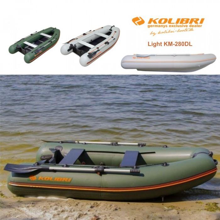 Pripučiama motorinė valtis KOLIBRI Light KM-280DL su kiliu