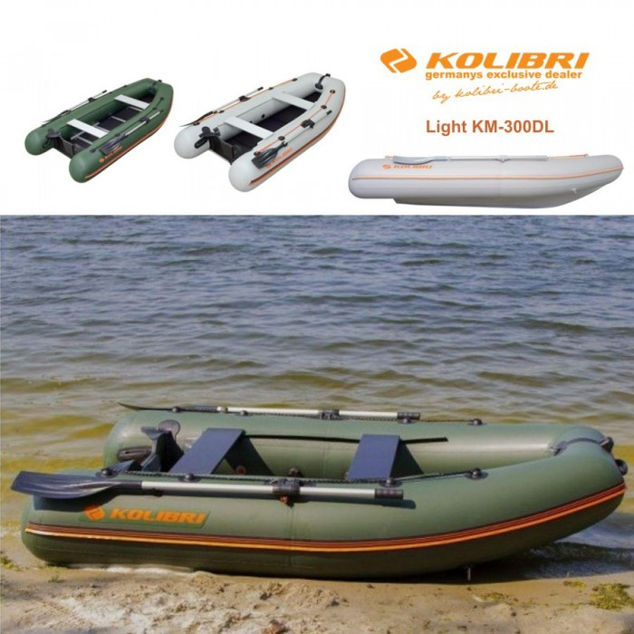 Pripučiama motorinė valtis KOLIBRI Light KM-300DL su kiliu