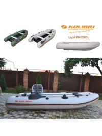 Pripučiama motorinė valtis KOLIBRI Light KM-330DL su kiliu