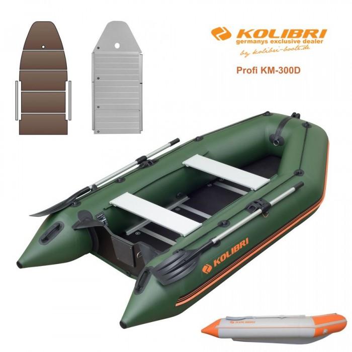 Pripučiama motorinė valtis KOLIBRI Profi KM-300D su kiliu