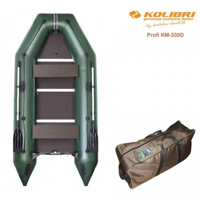 Pripučiama motorinė valtis KOLIBRI Profi KM-330D su kiliu