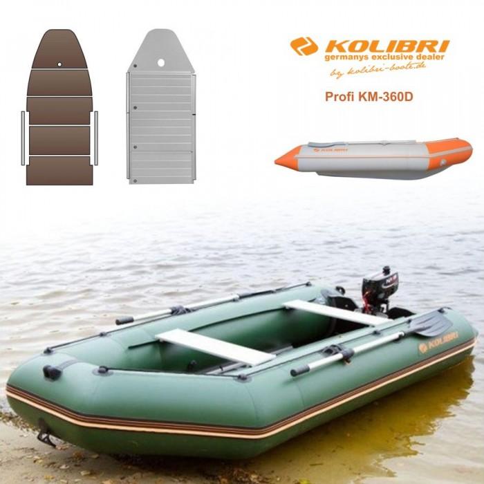 Pripučiama motorinė valtis KOLIBRI Profi KM-360D su kiliu