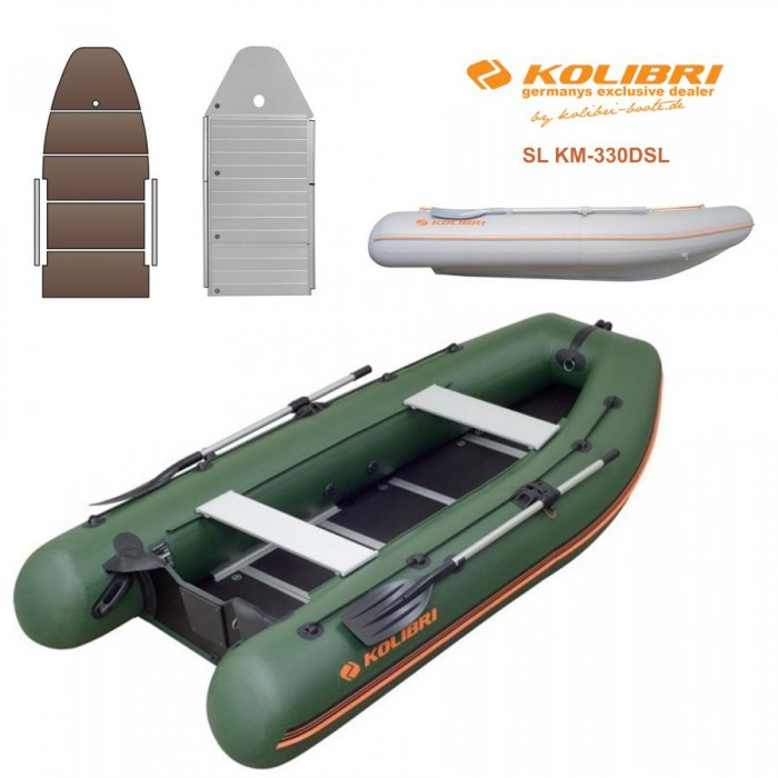 Pripučiama motorinė valtis KOLIBRI SL KM-330DSL