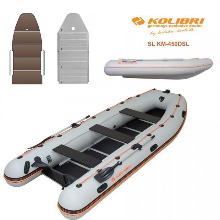 Pripučiama motorinė valtis KOLIBRI SL KM-450DSL