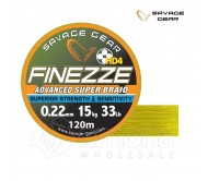 Pintas valas SG Finesse HD4 PE 120m Yellow