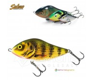 Vobleris Salmo Slider Floated Holographic Perch