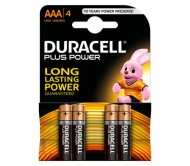Baterija šarminė R3 (AAA) 1.5V DURACELL Plus power(4vnt blisteryje)