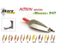 Blizgė vartiklė AKARA Action series  weedless Mouse 16g 04