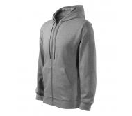 Džemperis vyriškas Malfini Trendy Zipper Dark Gray melange