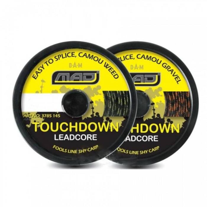 Karpinis Pavadėlis MAD Touchdown Leadcore 10m Brown