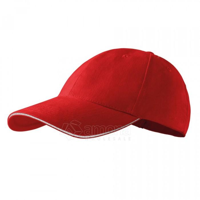 Kepurė ADLER 6P Sandwich Red