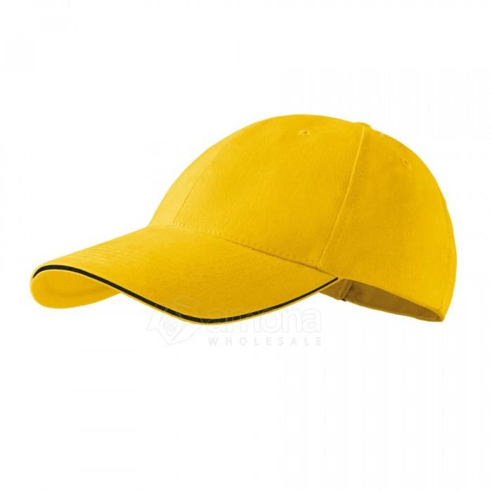 Kepurė ADLER 6P Sandwich Yellow
