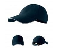 Kepurė Regular 6P Sandwich Navy Blue