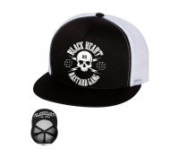 Kepurės Hat BLACK HEART Bastard Skull Trucker