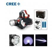 LED prožektorius ant galvos CREE L6502 su dviem akumuliatoriais
