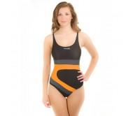 Maudymosi kostiumėlis Aqua-Speed MONICA juoda/pilka/oranžinė