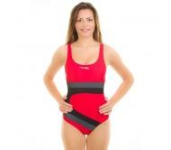 Maudymosi kostiumėlis Aqua-Speed MONICA raudona/juoda/pilka