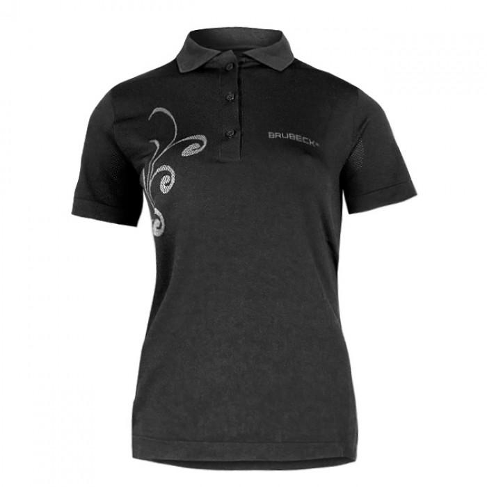 Moteriški termo marškinėliai Brubeck PRESTIGE su apykakle