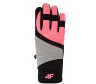 Moteriškos slidinėjimo pirštinės 4F H4Z18 RED001 salmon pink