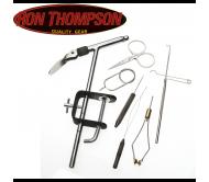 Ron Thompson FLY TYING SET holder +6 tools
