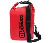 Neperšlampamas krepšys Gopack 10L  raudonas