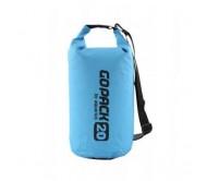 Neperšlampamas krepšys Gopack 20L  mėlynas