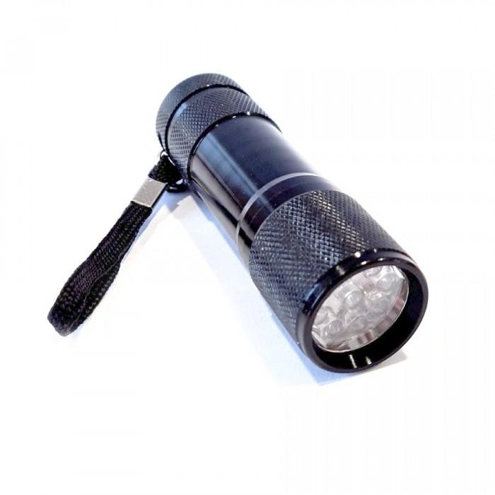 Nešiojamas UV 9 LED Žibintas su dirželiu su 3vnt  AAA baterijomis