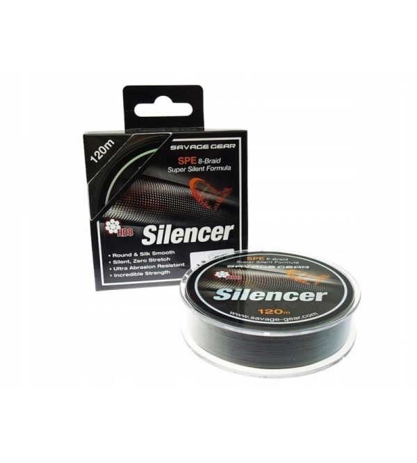 Pintas Valas 8-gijų SG HD8 Silencer Braid 120m Green
