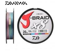 Pintas valas J-Braid x8 0.16mm 150m  multi color