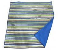 Pledas piknikams Cattara Spring – mėlynas-dryžuotas 150 x 150 cm