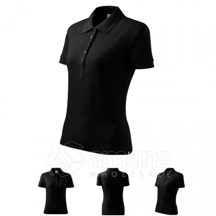 Polo marškinėliai ADLER Cotton Black, moteriški
