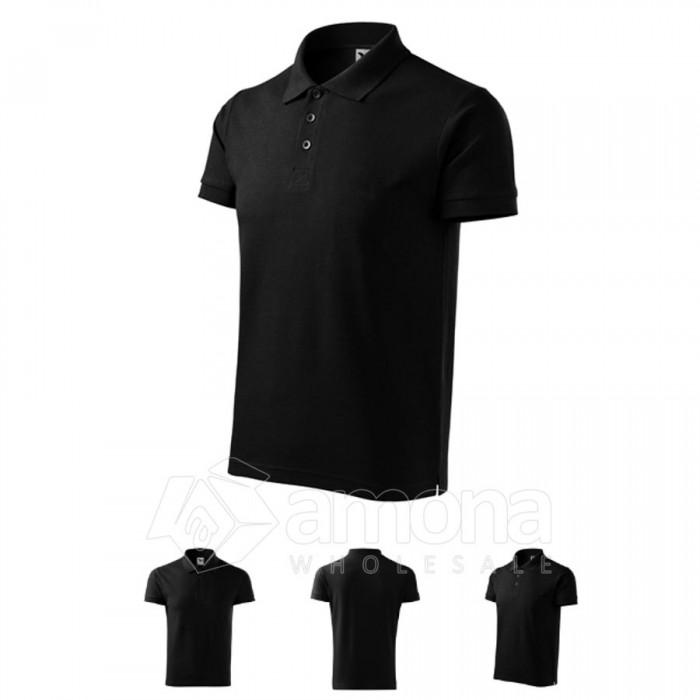 Polo marškinėliai ADLER Cotton Black, vyriški