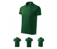 Polo marškinėliai ADLER Cotton Bottle Green, vyriški