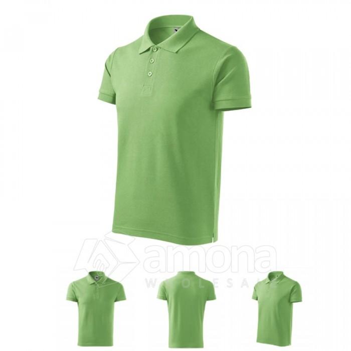 Polo marškinėliai ADLER Cotton Grass Green, vyriški