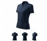 Polo marškinėliai ADLER Cotton Navy Blue, moteriški