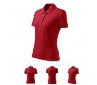Polo marškinėliai ADLER Cotton Red, moteriški