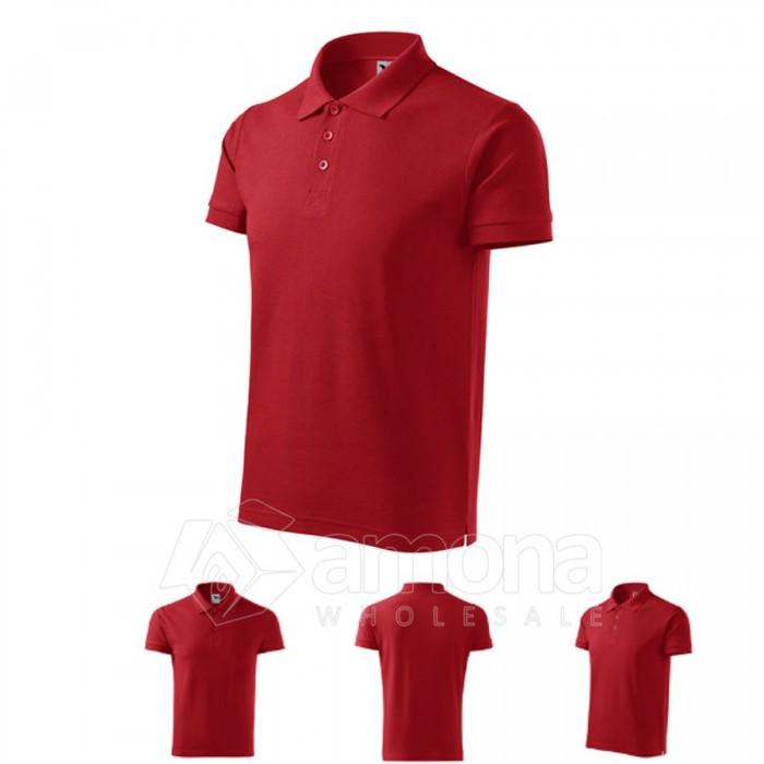Polo marškinėliai ADLER Cotton Red, vyriški
