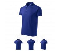 Polo marškinėliai ADLER Cotton Royal Blue, vyriški