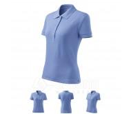 Polo marškinėliai ADLER Cotton Sky Blue, moteriški