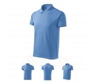 Polo marškinėliai ADLER Cotton Sky Blue, vyriški