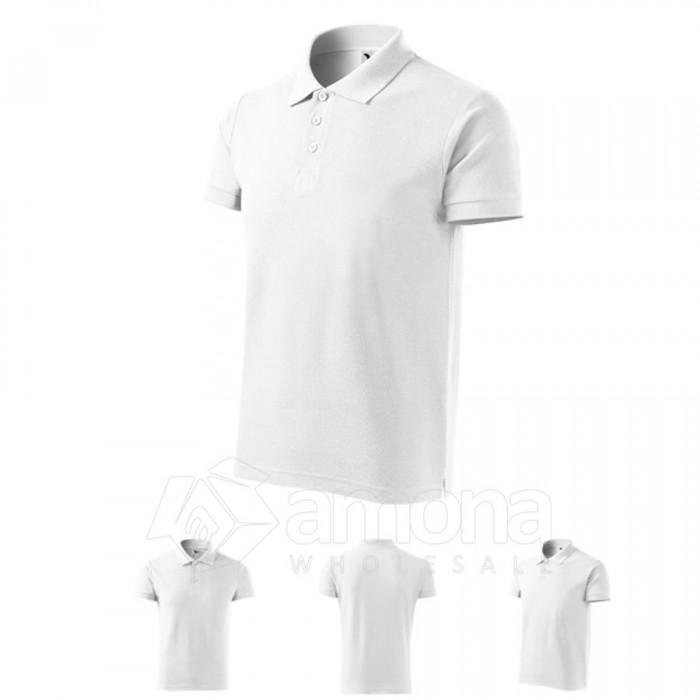 Polo marškinėliai ADLER Cotton White, vyriški