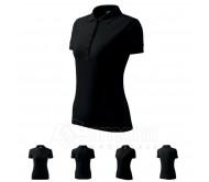 Polo marškinėliai ADLER Pique Polo Black, moteriški