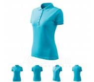 Polo marškinėliai ADLER Pique Polo Blue Atol, moteriški