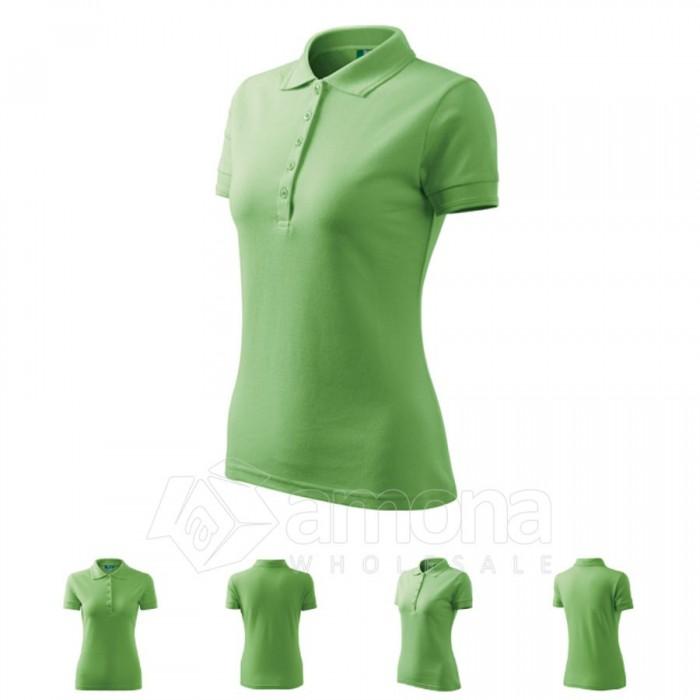 Polo marškinėliai ADLER Pique Polo Grass Green, moteriški