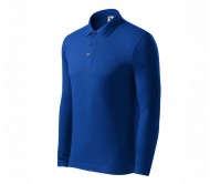 Polo marškinėliai ADLER Pique Polo LS Royal Blue, vyriški