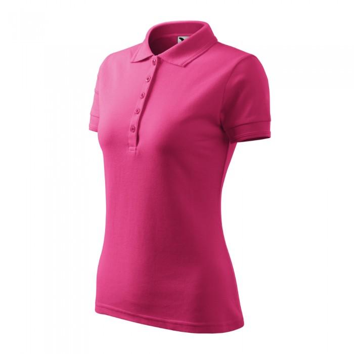 Polo marškinėliai ADLER Pique Polo Magenta, moteriški
