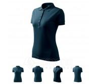 Polo marškinėliai ADLER Pique Polo Navy Blue, moteriški