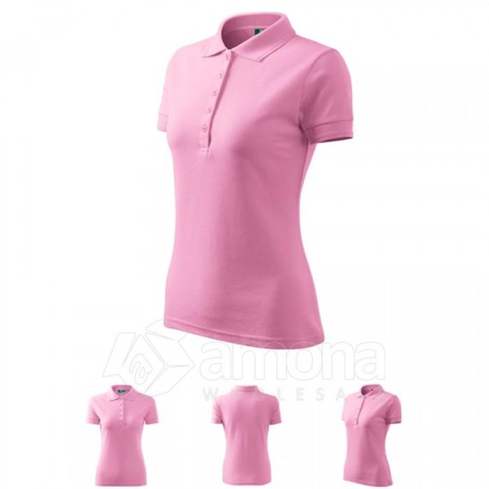 Polo marškinėliai ADLER Pique Polo Pink, moteriški