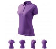 Polo marškinėliai ADLER Pique Polo Purple, moteriški