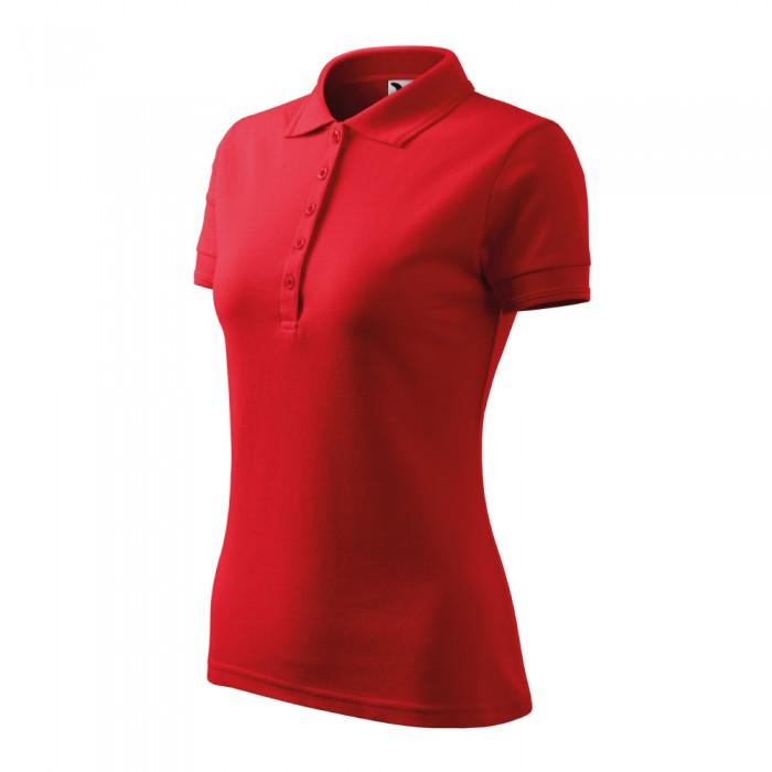 Polo marškinėliai ADLER Pique Polo Red, moteriški